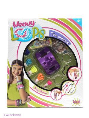 Плетение брелочков Splash Toys. Цвет: белый, голубой, зеленый, розовый