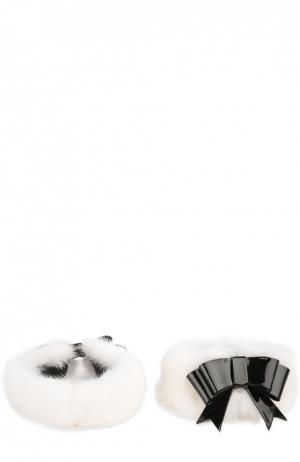 Аксессуар для обуви Aleksandersiradekian. Цвет: черно-белый