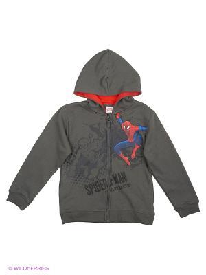 Толстовка Spiderman. Цвет: серый, темно-серый, бронзовый
