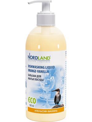 Nordland бальзам для мытья посуды апельсин-ваниль ,500 мл.. Цвет: персиковый