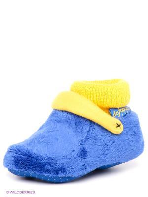 Тапочки De Fonseca. Цвет: синий, желтый