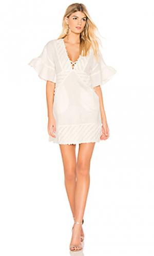 Платье-футляр serendipity Suboo. Цвет: белый