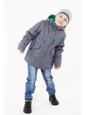 Куртка NIKASTYLE. Цвет: серо-зеленый