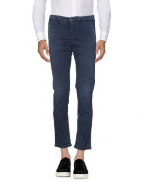 Повседневные брюки RE-HASH. Цвет: грифельно-синий