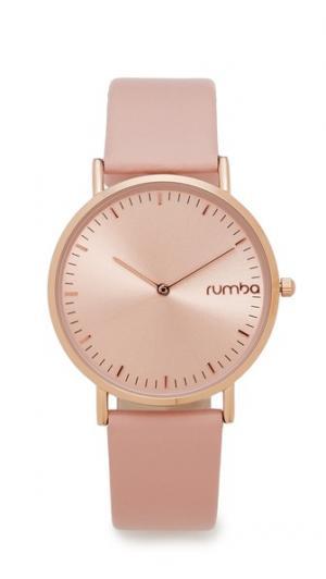 Часы SoHo с кожаным ремешком розового цвета RumbaTime