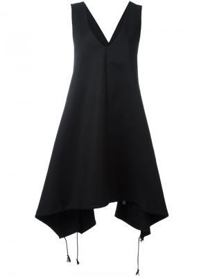 Платье шифт со шнуровкой Y-3. Цвет: чёрный