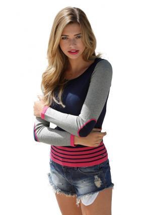 Пуловер AJC. Цвет: темно-синий