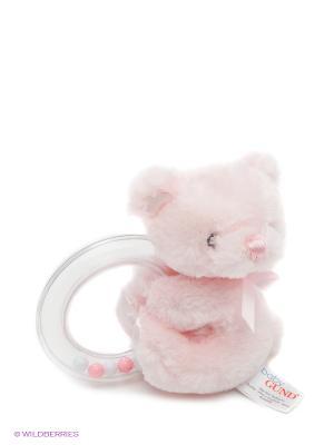 Игрушка мягкая (My First Teddy Rattle Pink, 10 см). Gund. Цвет: бледно-розовый