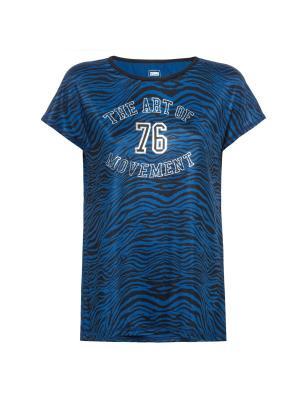 Футболка Freddy. Цвет: синий, коричневый