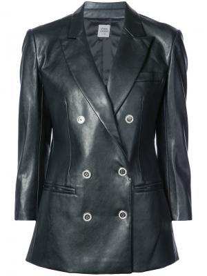 Двубортная куртка Opening Ceremony. Цвет: чёрный