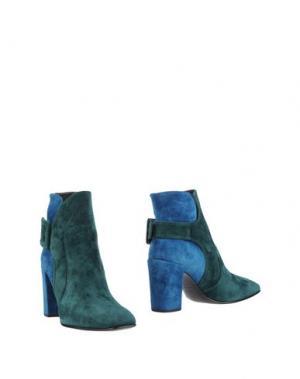 Полусапоги и высокие ботинки ROGER VIVIER. Цвет: зеленый