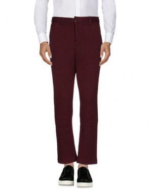 Повседневные брюки DERRIÉRE. Цвет: красно-коричневый