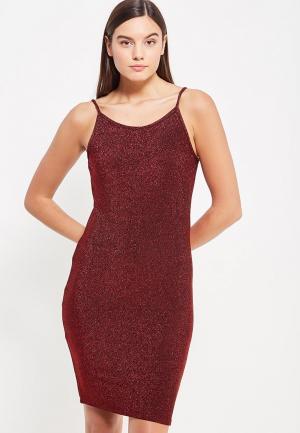 Платье Noisy May. Цвет: бордовый