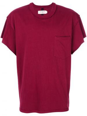 Классическая однотонная футболка Mr. Completely. Цвет: красный
