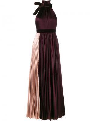 Вечернее платье Wykeham Roksanda. Цвет: розовый и фиолетовый