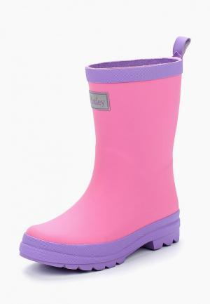 Резиновые сапоги Hatley. Цвет: розовый