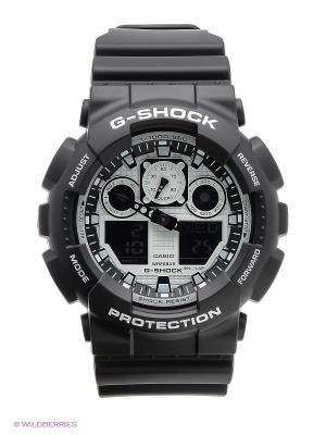Часы G-Shock GA-100BW-1A CASIO. Цвет: черный