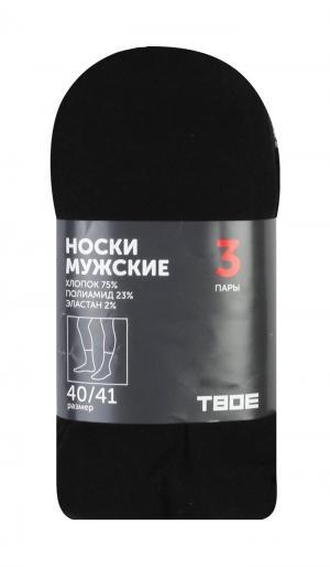 Носки Classic 2 42-43 ТВОЕ. Цвет: черный