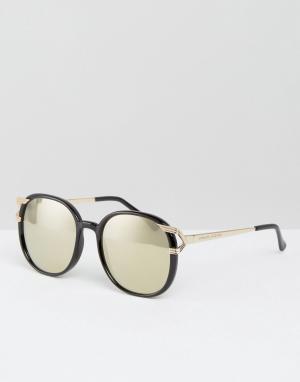 Somedays Круглые солнцезащитные очки с зеркальными линзами Lovin. Цвет: золотой