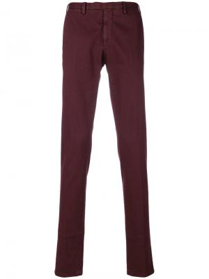 Классические брюки-чинос Delloglio Dell'oglio. Цвет: красный