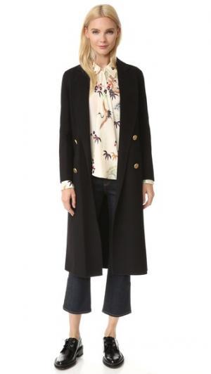 Фетровое пальто Edition10. Цвет: голубой