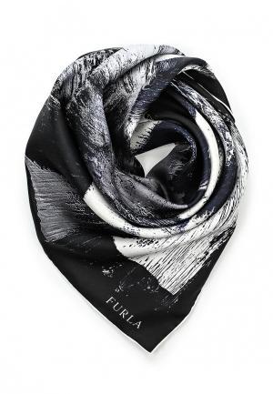 Платок Furla. Цвет: черно-белый