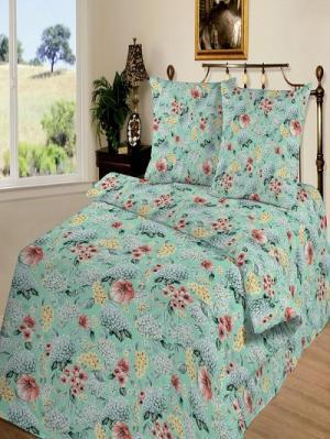 Комплект постельного белья тк.Бязь Палермо Шоколад. Цвет: серо-зеленый