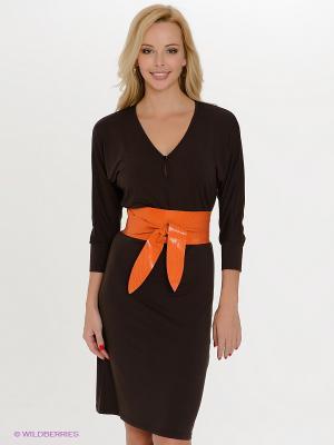 Платье Spicery. Цвет: темно-коричневый, рыжий