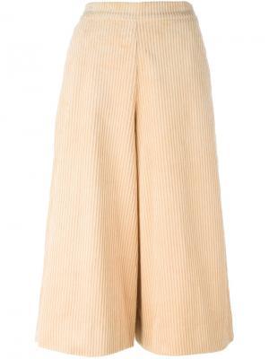 Укороченные брюки-палаццо Manoush. Цвет: телесный