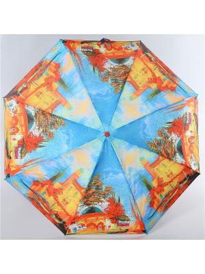 Зонт Zest. Цвет: голубой, лазурный, светло-оранжевый
