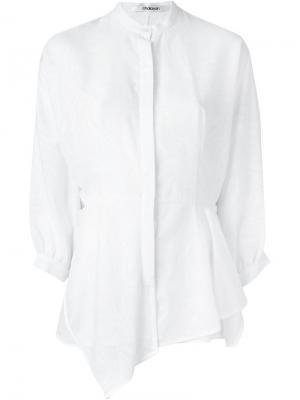 Блузка с драпировкой Chalayan. Цвет: белый