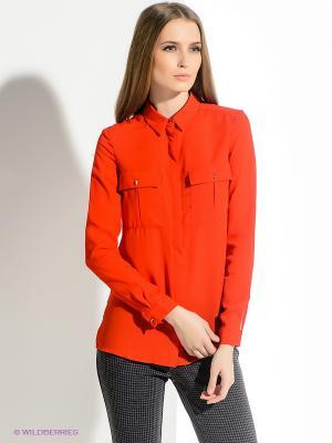 Блузка INCITY. Цвет: красный