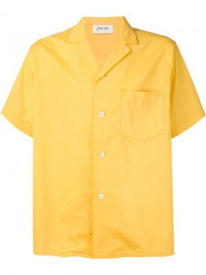 Рубашка с короткими рукавами Second/Layer. Цвет: жёлтый и оранжевый