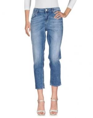 Джинсовые брюки TONELLO. Цвет: синий
