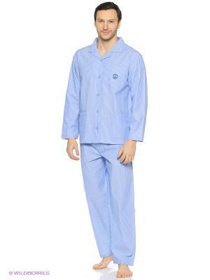Домашний  костюм Navigare. Цвет: голубой