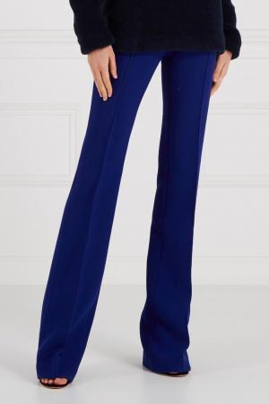 Синие брюки из шерсти LAROOM. Цвет: синий