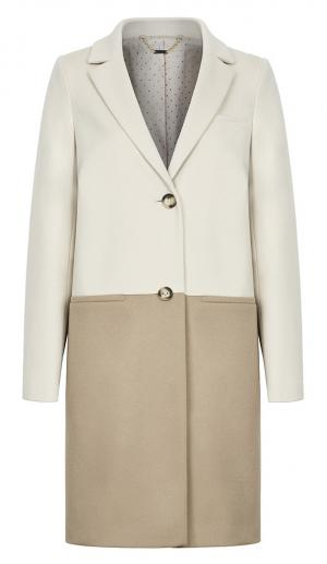 Стильное пальто из вирджинской шерсти с кашемиром Элема