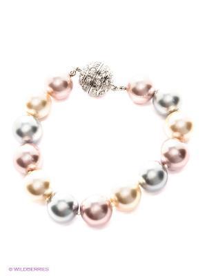 Браслет ЭСТЕТ. Цвет: кремовый, серебристый, бледно-розовый