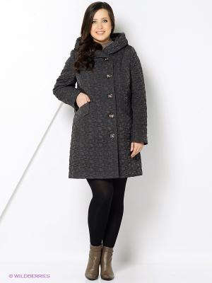 Стеганое пальто Brillare. Цвет: темно-серый