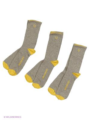 Носки Спортивные 3 Пары Unlimited. Цвет: желтый
