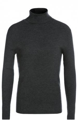 Водолазка из шерсти тонкой вязки Polo Ralph Lauren. Цвет: темно-серый