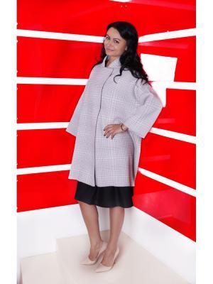 Пальто SHE'SSO. Цвет: серый, белый