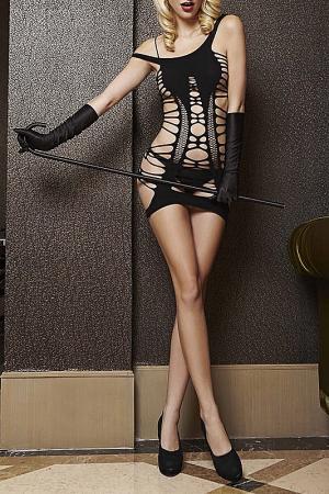 Платье с разрезами TEMPTLIFE. Цвет: черный