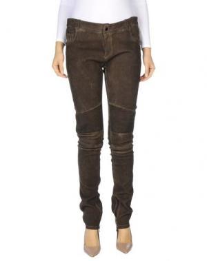 Повседневные брюки SLY010. Цвет: темно-коричневый