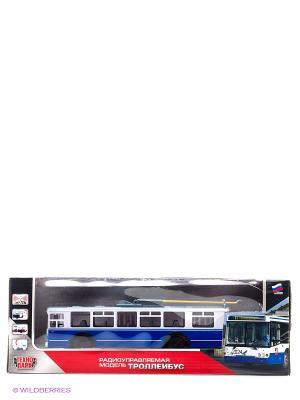 Троллейбус Технопарк радиоуправляемый. Цвет: синий, белый