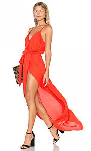 Макси платье egypt Karina Grimaldi. Цвет: оранжевый