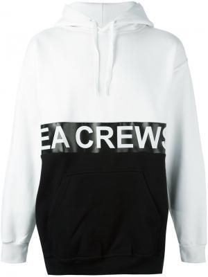 Толстовка с капюшоном и логотипом Andrea Crews. Цвет: белый