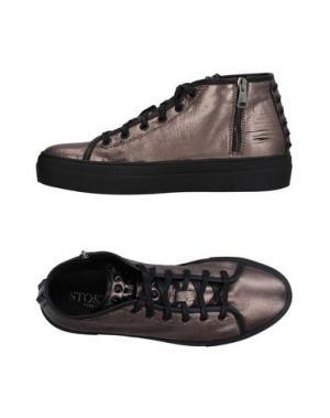 Высокие кеды и кроссовки STOKTON. Цвет: бронзовый