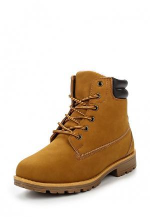 Ботинки Leerd. Цвет: желтый