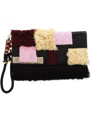 Клатч Tapestry Lizzie Fortunato Jewels. Цвет: чёрный